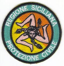 [Patch] PROTEZIONE CIVILE REGIONE SICILIANA cm 8 toppa ricamo SICILIA -119