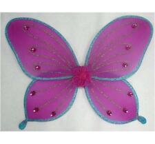 NEW PINK BLUE SPARKLE JEWELED GLITTER BUTTERFLY WINGS FAIRY Girl COSTUME