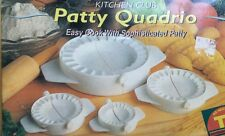 Kitchen club patty quadrio 4 pc easy cook with sophisticsted patty.new in a box