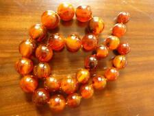 Gorgeous Tortoiseshell Bakelite Beads - Missing Screw in Clasp.Test + Simichrome