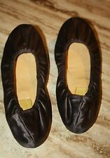 Lanvin Dark Chocolate Silk Ballet Flats Shoes Excellent Condition Size 39