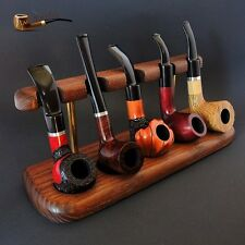 HAND CARVED EXCLUSIVE WOODEN STAND  RACK  HOLDER  DISPLAY  for 5 Smoking Pipes