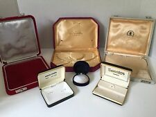 Vintage Jewelry Presentation Boxes Necklace & Earing Men's Pierre Cardin Sherman