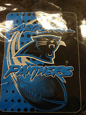 CAROLINA PANTHERS ROYAL / PLUSH RASCHEL / BLANKET / THROW