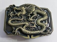 ✖Awesome Antigue bronze black color DRAGON COOL Belt Buckle Full Metal US seller