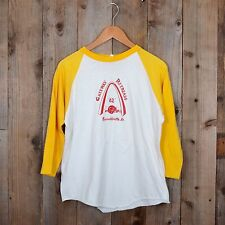 Vintage 80s Gateway Retreads 3/4 length sleeves jersey razorback large t-shirt