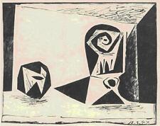 """Pablo Picasso    """"Composition au Verre a Pied (Block 431)""""    MAKE  OFFER"""