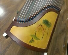 "53"" Travel 21-String Rosewood Guzheng, Chinese Zither Harp with Stands"