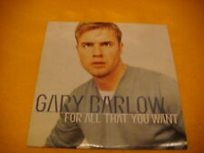 Cardsleeve Single CD GARY BARLOW For all That You Want 2TR 1999 soft TAKE THAT