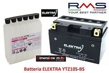 Batteria ELEKTRA YTZ10S-BS  12V-8,6Ah + Acido per KYMCO People S 200 ie dal 2007