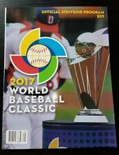 2017 WBC/WORLD BASEBALL CLASSIC PROGRAM! DOMINICANA/PUERTO RICO/USA/JAPAN! HOT!!