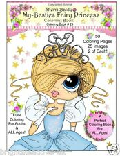 Sherry Baldy Fairy Princess Adult Colouring Book Cute Whimsical Characters Art