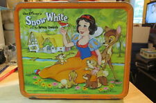 Vintage Tin Aladdin Industries Snow White Lunch Box Walt Disney Productions
