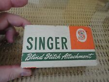 VINTAGE SINGER BLIND STITCH ATTACHMENT NO.160616 WITH BOOKLET IN BOX