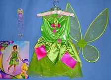DISNEY TINKERBELL COSTUME-GIRLS 10-12;FAIRY WINGS;TIARA;NECKLACE/BRACELET;LOT-5