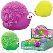 SQUEEZY SNAIL STRETCHY PUFFY BOYS GIRLS TOY GIFT XMAS CHRISTMAS STOCKING FILLER