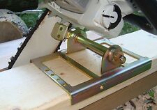 Lumber maker chain saw attachment cuts boards, beams, planks, slabs, logs, trees