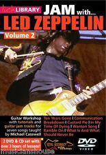 Lick Library Learn To Play Jam Con Led Zeppelin tarta de crema Guitarra Dvd Vol 2