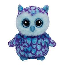TY Beanie Boos - OSCAR the Blue Owl (Glitter Eyes) (Regular Size - 6 inch) MWMTs