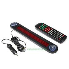 12V Red LED Message Sign Moving Scrolling Display Board for Car Shop + Remote