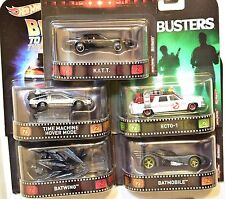 HOT WHEELS RETRO ENTERTAINMENT 2017 SET OF 5 K.I.T.T BATMOBILE BATWING ECTO-1