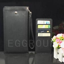 Leather Pocket Purse Wallet Shoulder/Handle/Waist Bag Pouch Cover Case Fr iPhone