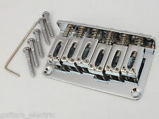 HARD TAIL CHROME BRIDGE + string through body or top loading for electric guitar