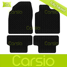 Black Fully Tailored Rubber Car Floor Mats For Nissan Qashqai 2007 - Onwards