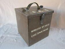 WW2 original wireless set No 19 case spare valves