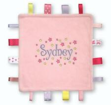 Unique Personalised TAGGY BLANKET   Designed with Any Name & Colours  Satin Tags