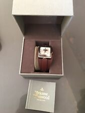 Vivienne Westwood Women's Brown Leather Cube Watch New With Box Ideal Xmas Gift
