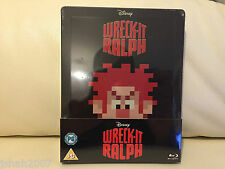 Disney Wreck It Ralph Steelbook Blu Ray zavvi Exclusivo ** Nuevo Y Sellado **