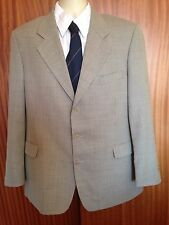 YSL brown check pure wool vintage suit jacket 42 reg EU54R