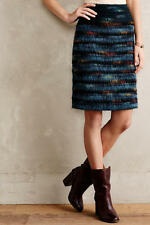 NWT Maeve Anthropologie Feathered Wool Pencil Skirt $148 Sz 2