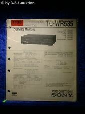 Sony Service Manual TC WR535 Cassette Deck  (#1135)