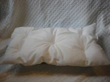 White 18 inch Doll Mattress Bedding fits American Girl made USA New