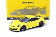 MINICHAMPS Collection 1:18 2013 PORSCHE 911 GT3 Yellow Diecast Car