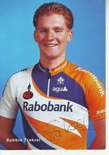 CYCLISME carte cycliste BOBBIE TRAKSEL équipe RABOBANK 2001