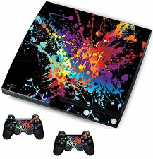 Paint Splats Sticker/Skin PS3 Playstation 3 Console/Remote controllers,psk19