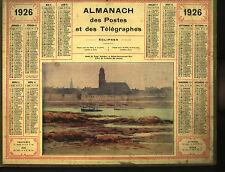 Almanach des postes et telegraphes 1926, calendrier