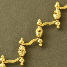 Korean Style 9K Yellow Gold Filled Simple Small Bead Womens Charm chain bracelet