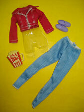 Barbie FASHIONISTA STYLE LIFE IN THE DREAM HOUSE Doll Clothes Lot Denim Pant Set