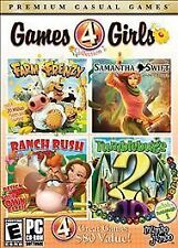 VIDEO GAME PC Games 4 Girls 2 Farm Frenzy Ranch Rush Samantha Swift Tumblebugs 2