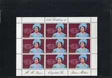 Cayman Islands 1980 80°anniv della regina Elisabetta Minifoglio 450  Mnh