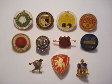 BOWLING WOMENS LEAGUE BOWLS 1980s GB OLD VINTAGE PIN BADGE JOB LOT BUNDLE SET 11
