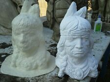 CONCRETE PLASTER MOLD LATEX ONLY AMERICAN INDIAN HEAD MOLD