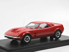 AutoCult 06014, 1967 Ford Mustang Mach 2 Concept Car USA, red 1/43