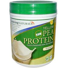 Yellow Pea Protein -456g Original Powder by Growing Naturals -100% Amino Acids