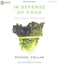 In Defense of Food : An Eater's Manifesto by Michael Pollan (2008, CD, Unabridge