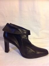 Sonia Rykiel Black Ankle Leather Boots Size 39.5